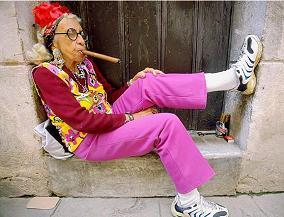 Geek Cigar Lady
