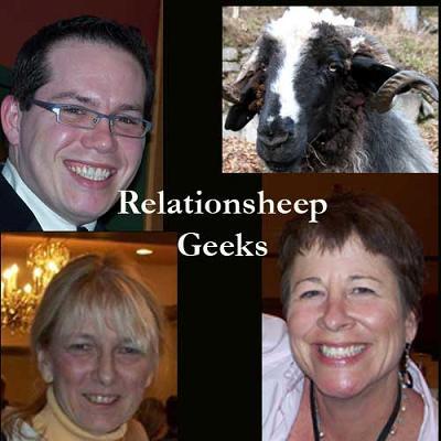 Phil Gerbyshak, sheep, Liz Strauss, Lisa Gates = Relationship Geeks