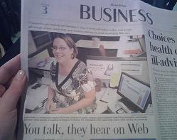 Leah Jones in the Chicago Tribune November 23, 2007