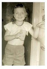 Liz Strauss as a child