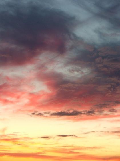 Evening sky colors
