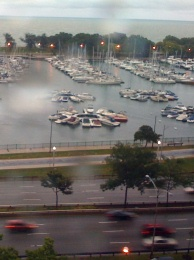 Cars_on_Wet_Lake_Shore_Drive_by_Liz_Strauss