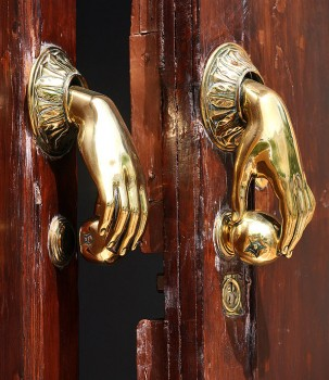 BigStock: Door handle and knocker in Spain