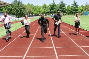 Business competition in a foot race