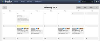 Tracky productivity platform screenshot