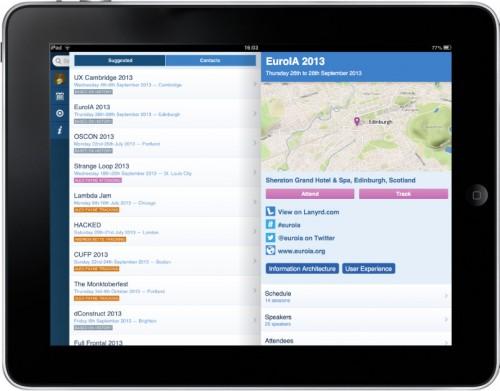 Lanyrd on iPad