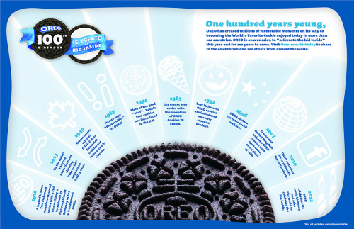 Oreo 100th Birthday infographic