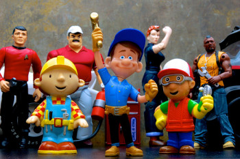variety of contractor action figures