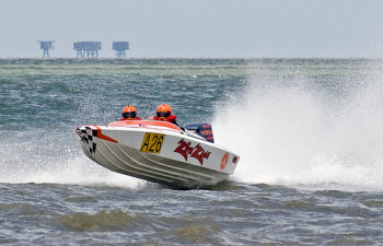 speedboat going fast