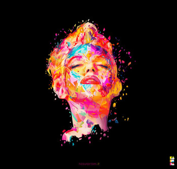 artistic Marilyn Monroe face