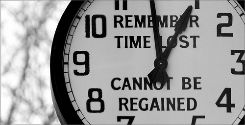 clock says time lost cannot be regained