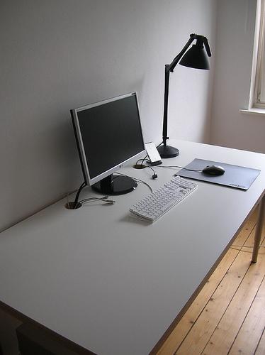 clean organized desk