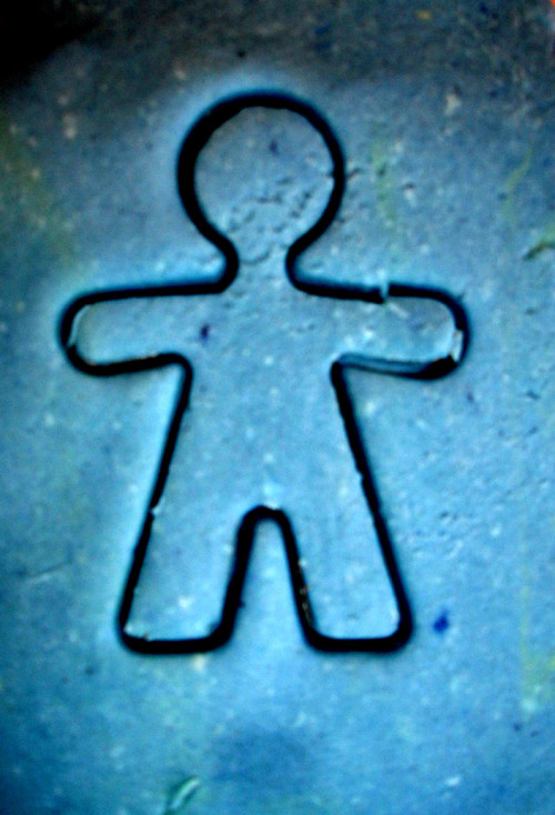 Cookie cutter man
