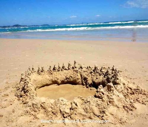 Circular sandcastle