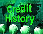 credit-history-represents-debit-card-and-bankcard-100297005