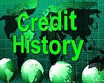 credit-history-represents-debit-card-and-bankcard-100297005
