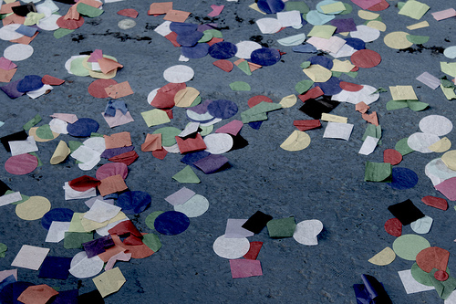 confetti on the ground