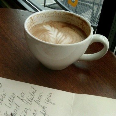 cup of capuccino letter