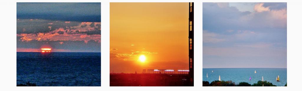 Sunrises captured by Liz Strauss