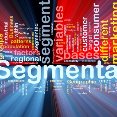 Market Segmentation Background Concept Glowing