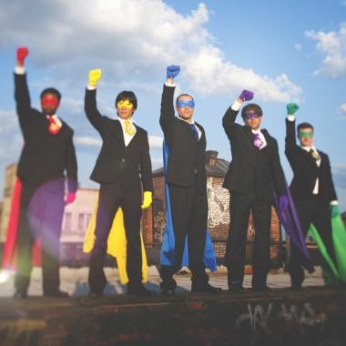 Multi-ethnic Superhero Businessmen Confidence Concept