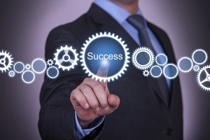 Businessman Gear Success