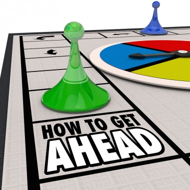 How to Get Ahead words on a board game advance your career