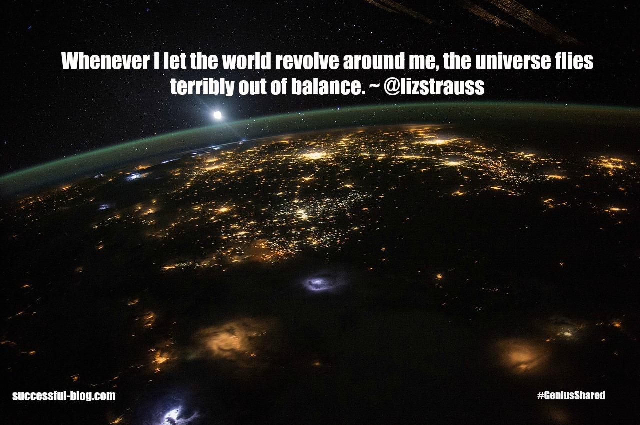 Universe - Liz quote