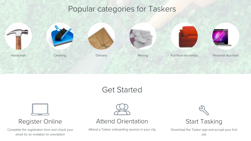 TaskRabbit main site